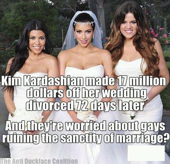 Why is destroying the definition of marriage the same as destroying marriage?