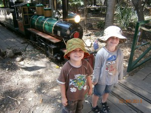 The boys loved the train and we managed to get a couple of rides into our day