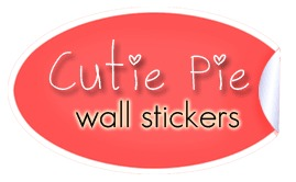 cutie pie wall stickers logo