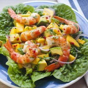Prawn Mango and Avocado Salad