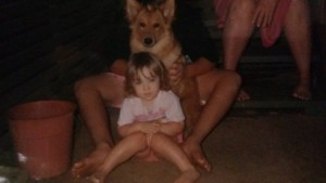Bella and I. I was 2 or 3 here.